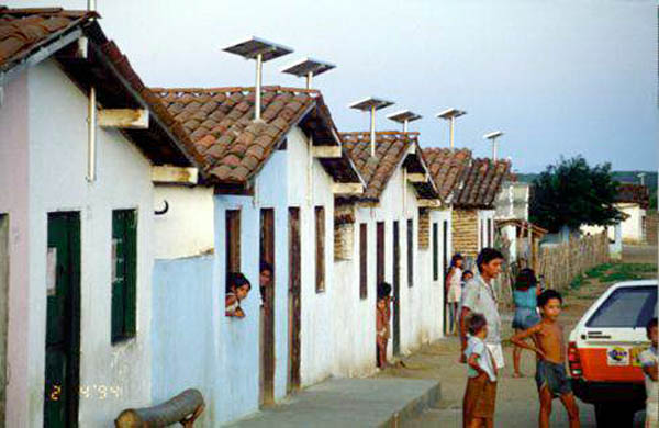 these houses in brazil use photovoltaic panels for electricity
